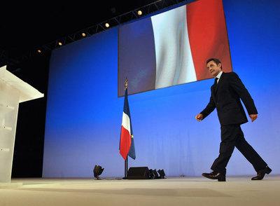 Nicolas Sarkozy se dispone a pronunciar su discurso ayer en Toulon.
