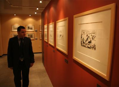 Un aspecto de la exposición  La tauromaquia de Goya y Picasso , que puede verse en Fuengirola.