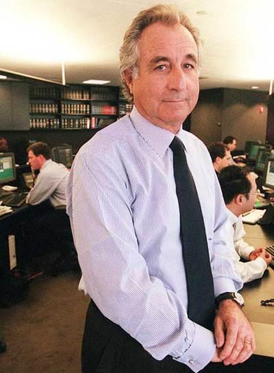 Bernard L. Madoff, en la sede de su empresa en 1999.