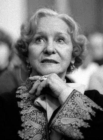Olga Lepechinskaia, en una imagen de 1985.
