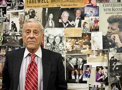Ben Bradlee, en su despacho.rn rnFoto: Jon Uriarte