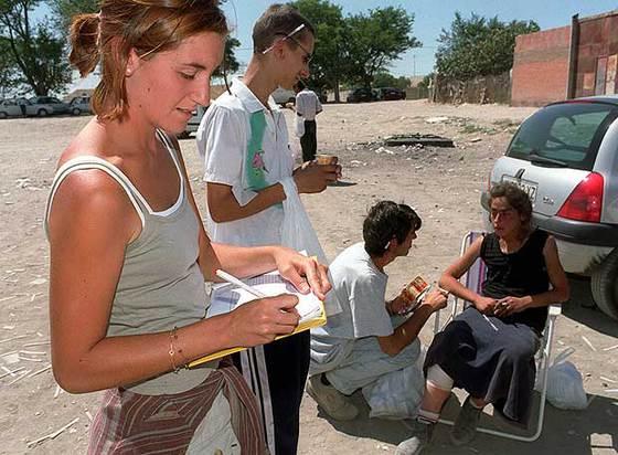 Rompehielos adolescentes voluntarios