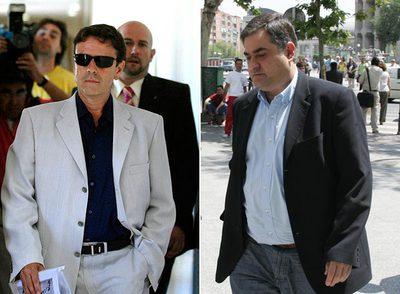 Eufemiano Fuentes (a la izquierda) y Manolo Saiz.