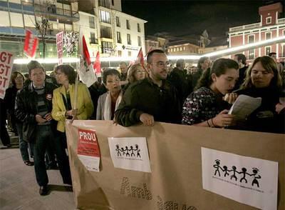 Manifestación contra el boicoteo del PP a Ciudadanía en Vila-real (Castellón).