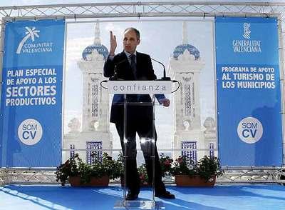 Francisco Camps, el martes, en Benidorm (Alicante).