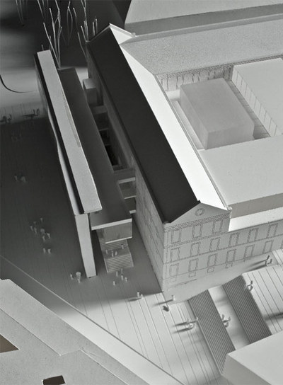 Maqueta del proyecto del Centro de Artes Visuales de Nieto y Sobejano.