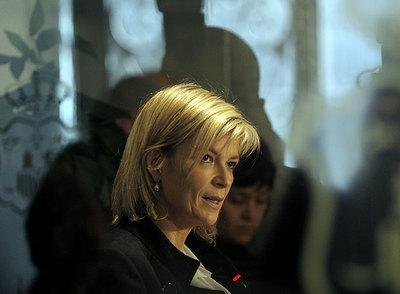Gabriela Bravo, portavoz del Consejo del Poder Judicial, en rueda de prensa.