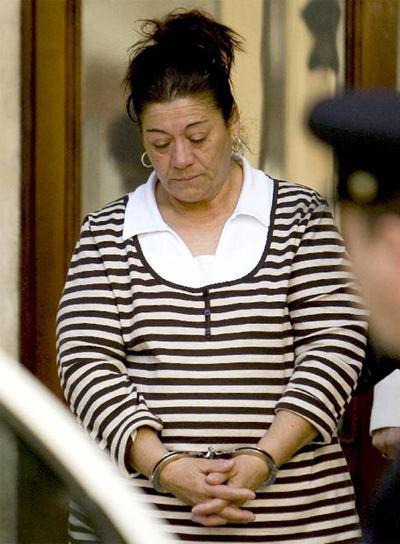Francisca Cortés,  La Paca,  tras ser condenada a 22 años de cárcel.