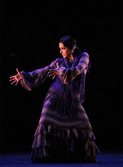 Eva Yerbabuena, el pasado viernes en el estreno de   Lluvia   en el Teatro Villamarta de Jerez.