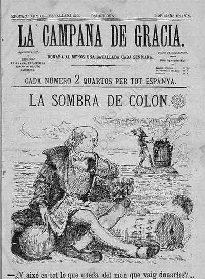 Ejemplar de  La Campana de Gracia  de 1878.