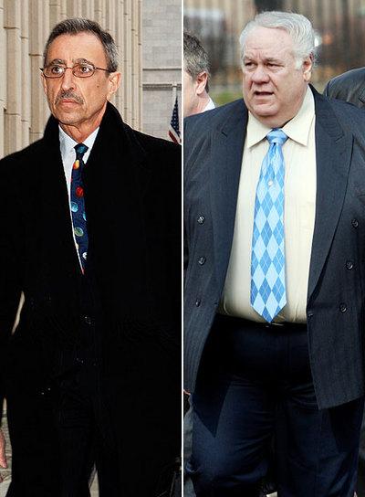 Los ex detectives Louis Eppolito (a la derecha) y Stephen Caracappa, en 2006.