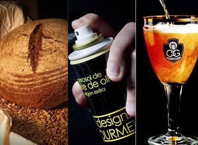 En las imágenes, el pan de espelta catalán, un aerosol de aceite de oliva y la cerveza dulce.