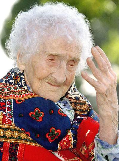 Jeanne Calment, que al morir, en agosto de 1997, tenía 122 años y era la persona más anciana del mundo.