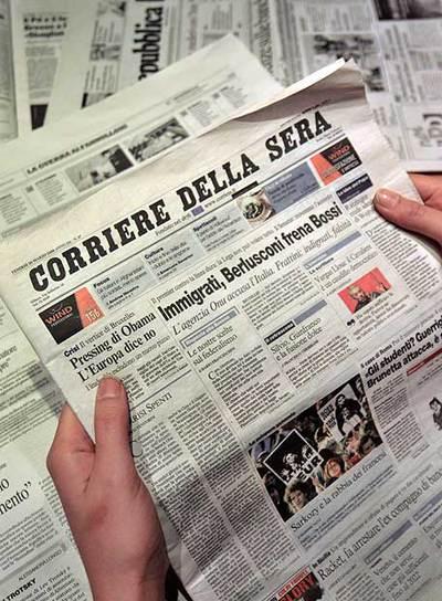 Tras controlar la televisión, Berlusconi quiere el  Corriere della Sera.