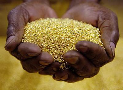 La crisis mundial ha hecho caer el precio de materias primas africanas como el oro.