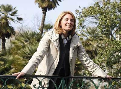 Arantza Quiroga, el lunes pasado, en el parque de Guipúzcoa, San Sebastián.