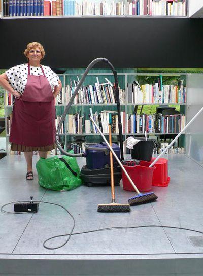 Guadalupe, la limpiadora protagonista.