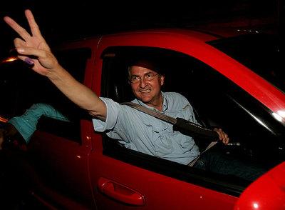 El opositor Antonio Ledezma, tras su elección como alcalde el 23 de noviembre de 2008.