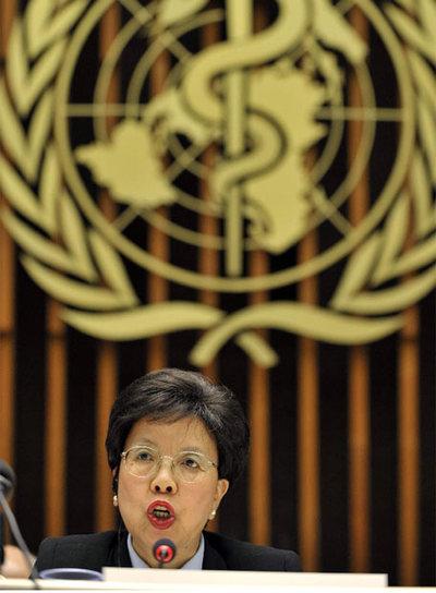 Margaret Chan, directora general de la OMS, en una rueda de prensa reciente.