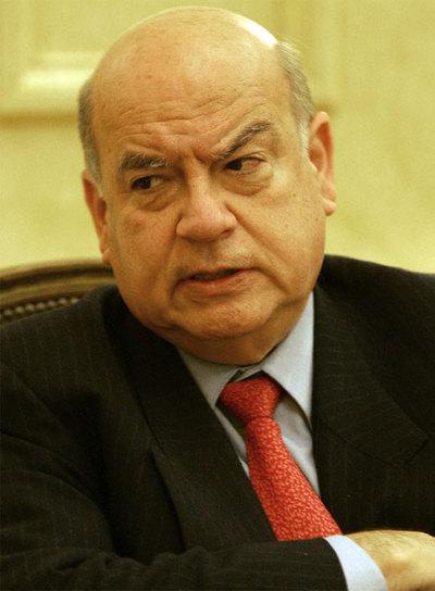 José María Insulza, durante una visita a Madrid, en 2006.