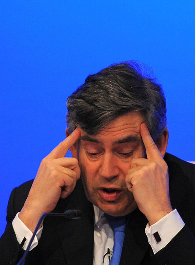 Gordon Brown, ayer en Yorkshire.
