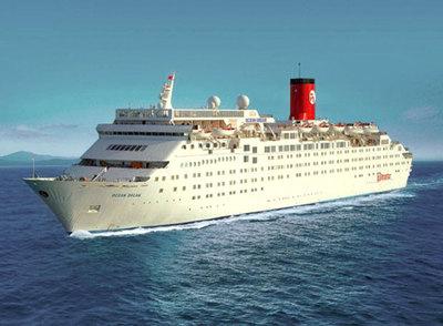 Crucero  Ocean Dream , en el que se ha detectado un brote de nueva gripe.