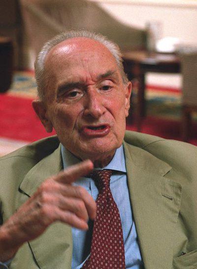 Giovanni Sartori, durante una visita a Madrid en 2004.