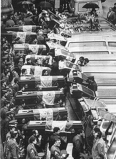 Funeral por las 11 víctimas del atentado de Zaragoza.