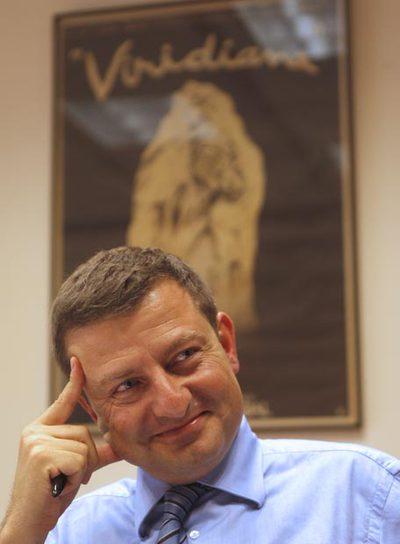 El director del ICAA, Ignasi Guardans, en su despacho.