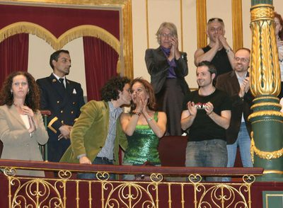 Representantes del movimiento transexual celebran la aprobación de la ley de identidad de género en 2007.