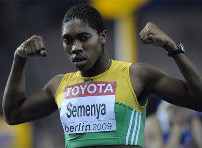 Caster Semenya en los mundiales de Berlín.