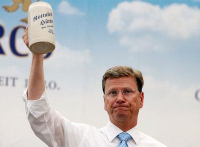 Guido Westerwelle, presidente del FDP, en un acto electoral.
