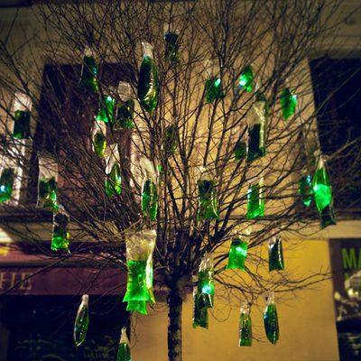 Instalación lumínica para el Jardín Botánico.