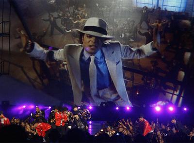Un vídeo de Michael Jackson, que se proyectó durante la gala a modo de homenaje.