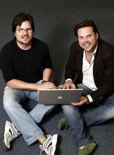 De izquierda a derecha, Óscar Marín y Karl Bornefalk.