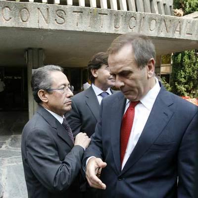 Los portavoces socialistas en Valencia y en el Congreso, Ángel Luna y José Antonio Alonso.