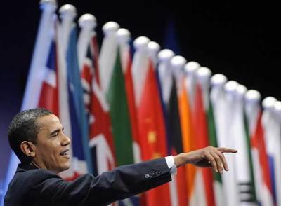 Barack Obama, durante una rueda de prensa celebrada tras la cumbre del G-20 celebrada en Londres en abril.