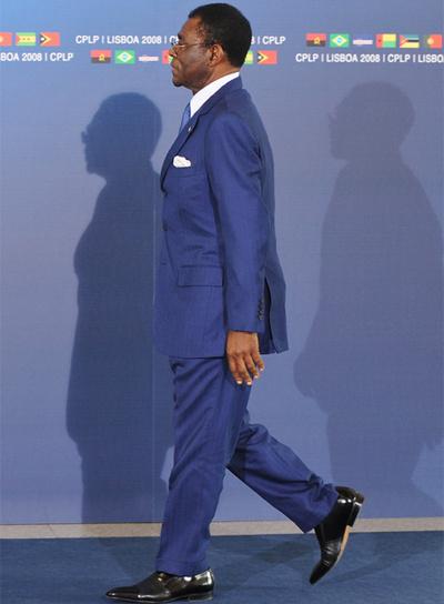 Teodoro Obiang, presidente de Guinea Ecuatorial, en Lisboa, en 2008.