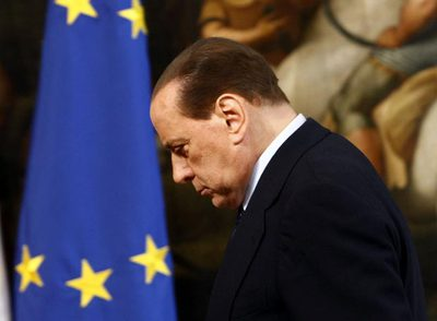Silvio Berlusconi, durante un acto oficial, ayer en el Palazzo Chigi, en Roma.