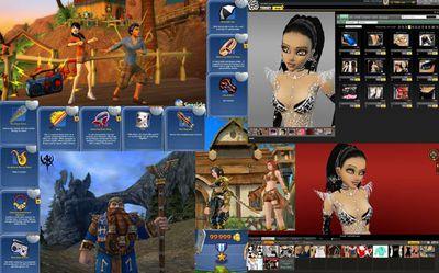 Algunos objetos virtuales a la venta. de diferentes juegos MMPORG.