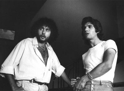 Diego Carrasco y Camarón durante la grabación de  La leyenda del tiempo.