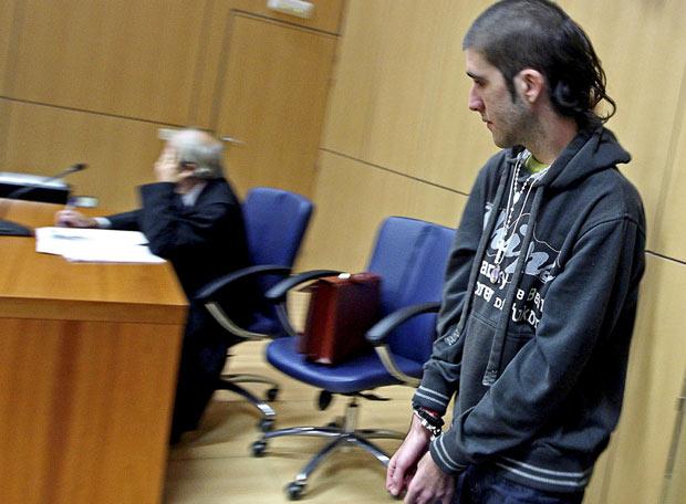 Sergio Ferrer, ayer, en la Audiencia de Valencia, donde fue condenado.