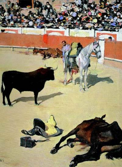 Toros,  cuadro de Ramon Casas que ha adquirido el MNAC.