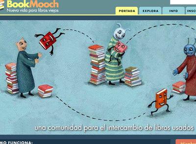 Página de inicio de Bookmooch.