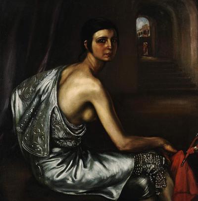 El lienzo   La niña torera,   de Julio Romero de Torres, que se subastó ayer en Londres.