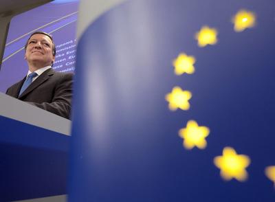 El presidente de la Comisión Europea, José Manuel Durão Barroso, ayer en Bruselas.
