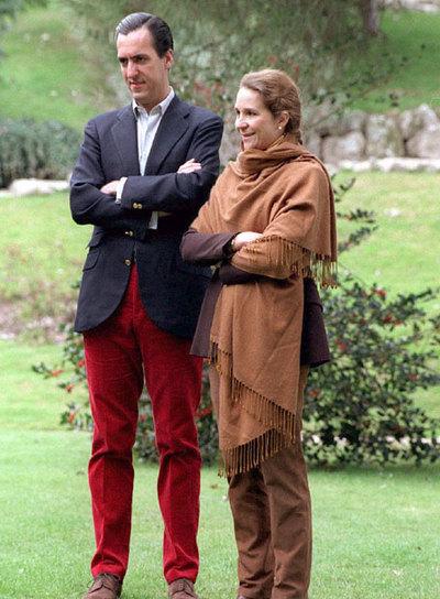 Jaime de Marichalar y la infanta Elena, en una imagen de 1998.