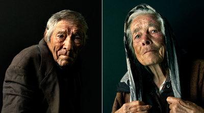 Éstos son algunos de los duros rostros que Pierre Gonnord encontró en el norte de la Península: los agricultores Rui y Madalena.