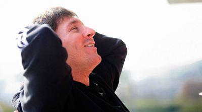 Messi, durante la entrevista.