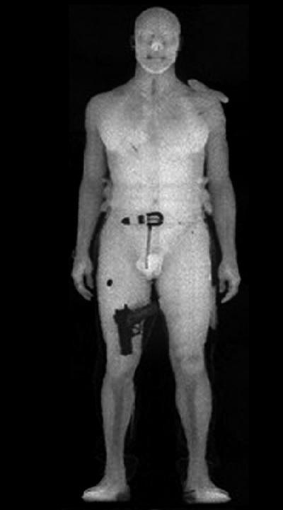 Imagen generada por un escáner corporal utilizado por la Agencia de Seguridad de Transportede Estados Unidos.